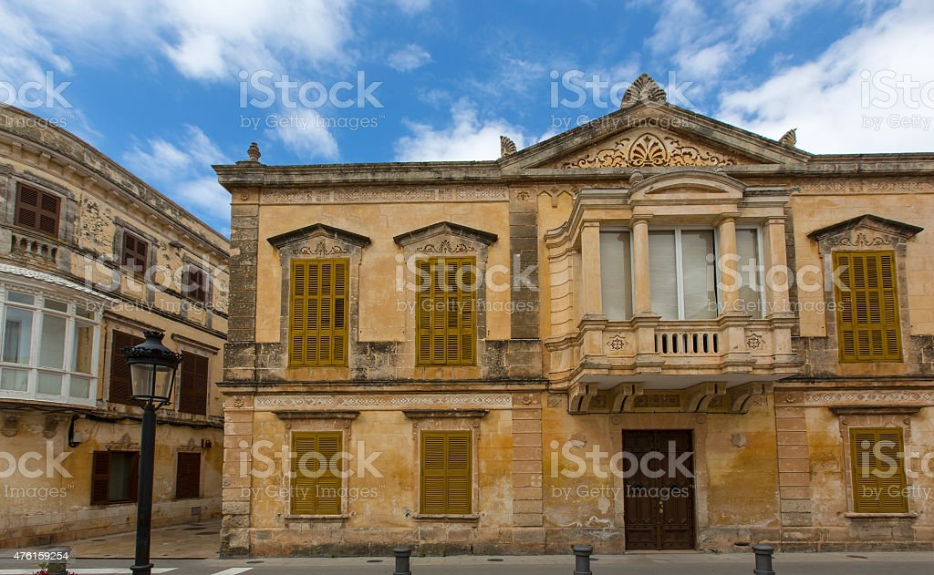 Ciutadella Menorca historic downtown in Ciudadela stock photo