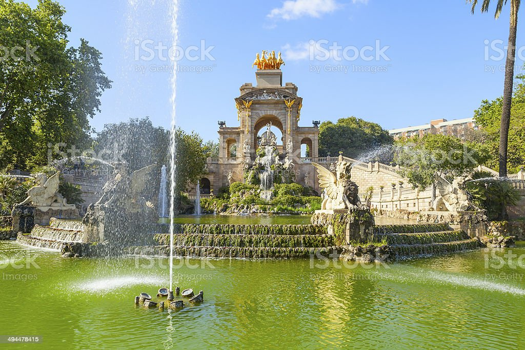ciutadella park in barcelona stock photo
