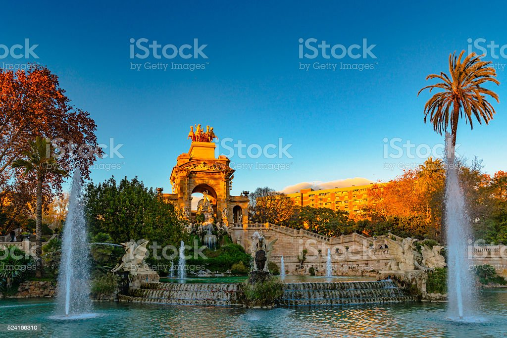 Ciutadella Park stock photo