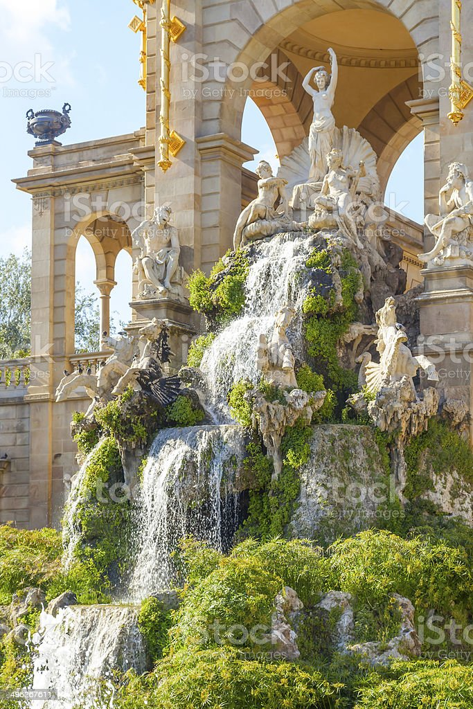 ciutadella park sculptures stock photo
