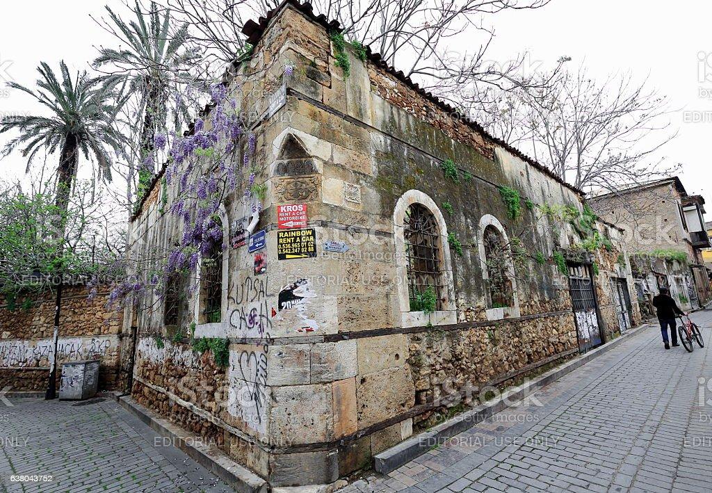 Civelek Sokak and Kaleiçi streets corner. Kaleiçi-Inner castle area-Antalya-Turkey. 0184 stock photo