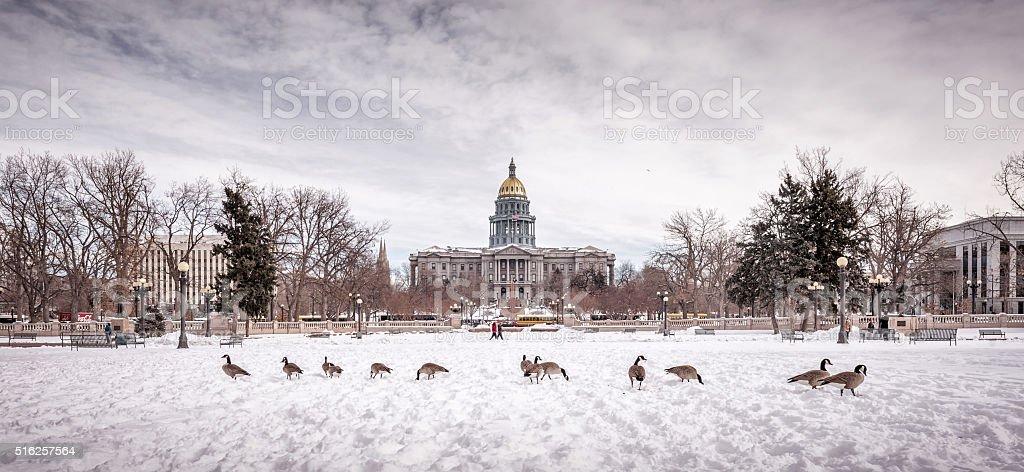 Civic Center Park and Colorado State Capitol, Denver stock photo