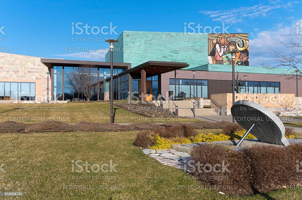 Civic Plaza Building and Entrance stock photo