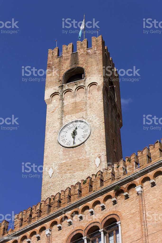 Civic Tower in Treviso stock photo