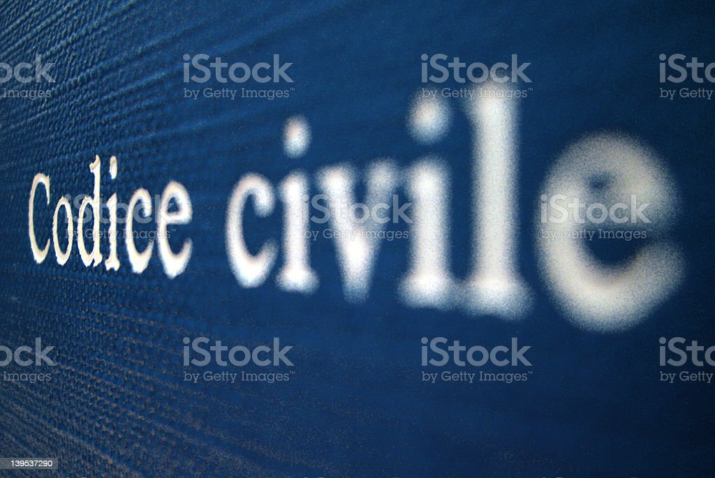 codice civile stock photo