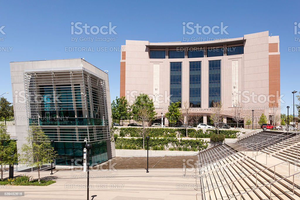 Civil Courts Building in Fort Worth stock photo
