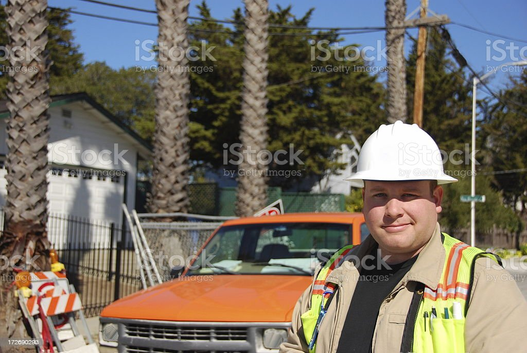 Civil Engineer at work royalty-free stock photo