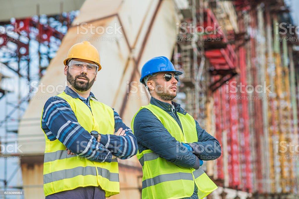 Civil engineering in urban areas stock photo