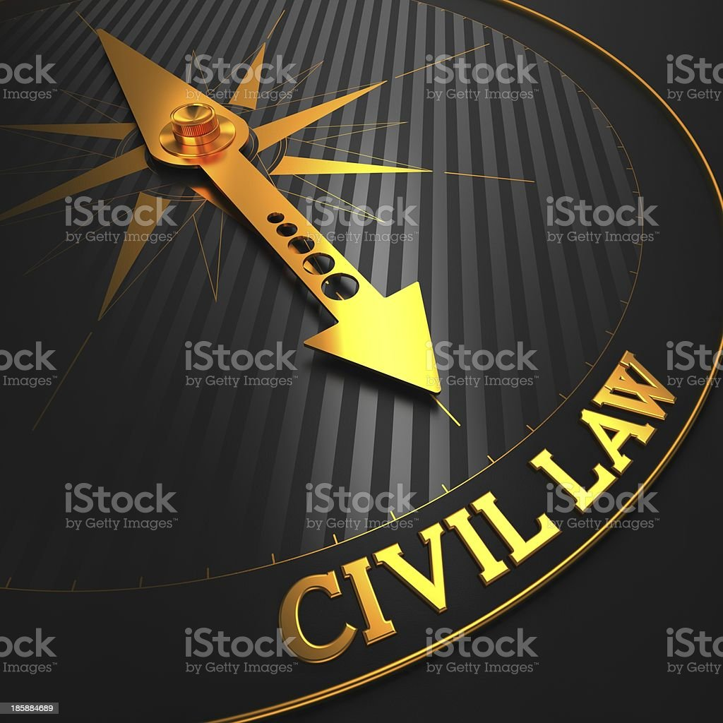 Civil Law. Business Background. stock photo