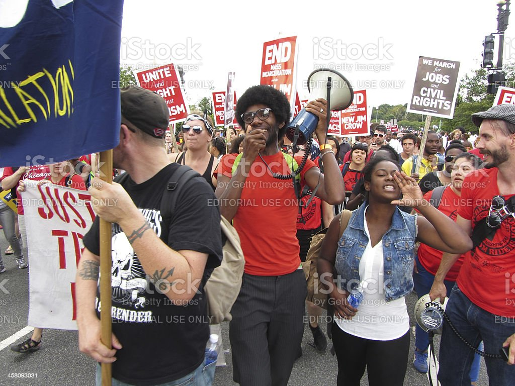 Civil Rights March stock photo