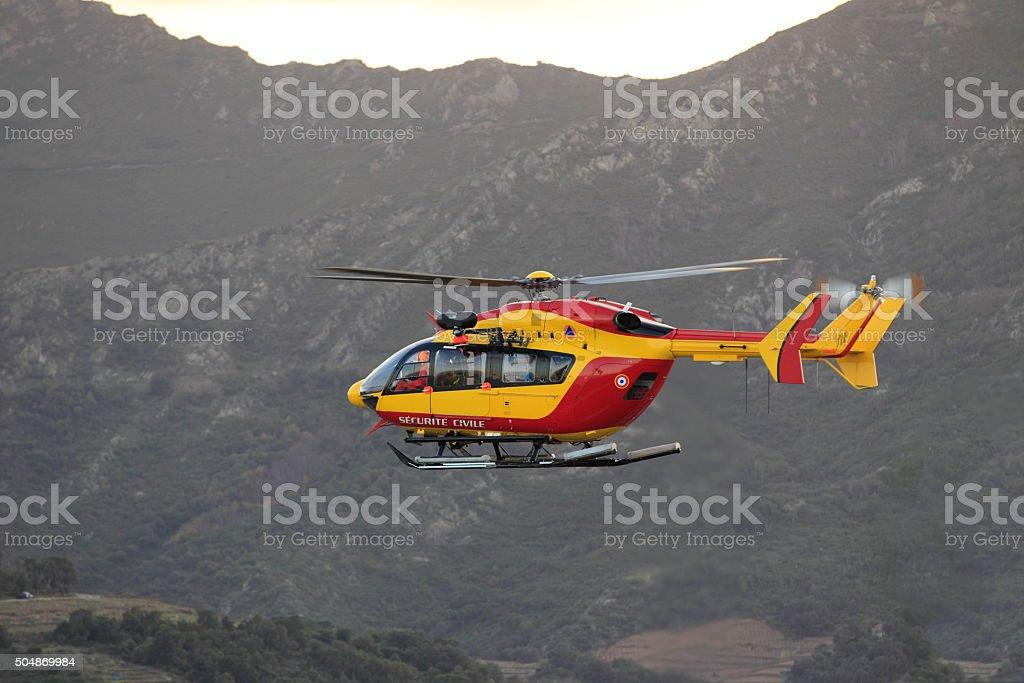 Hélicoptère de la Sécurité Civile stock photo