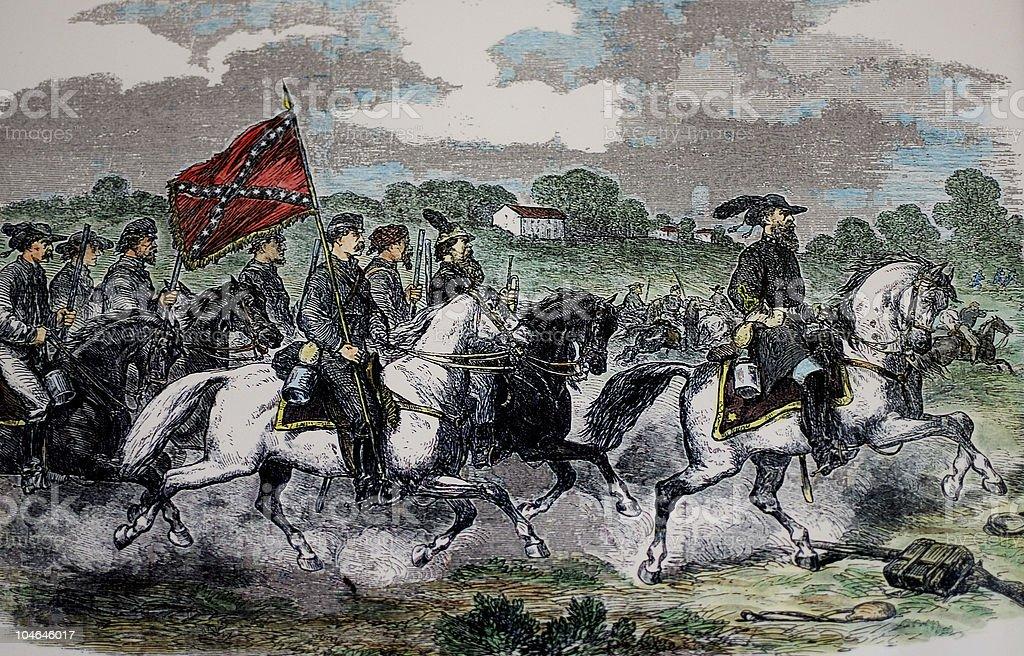 U.S. Civil War Antique Engraving stock photo