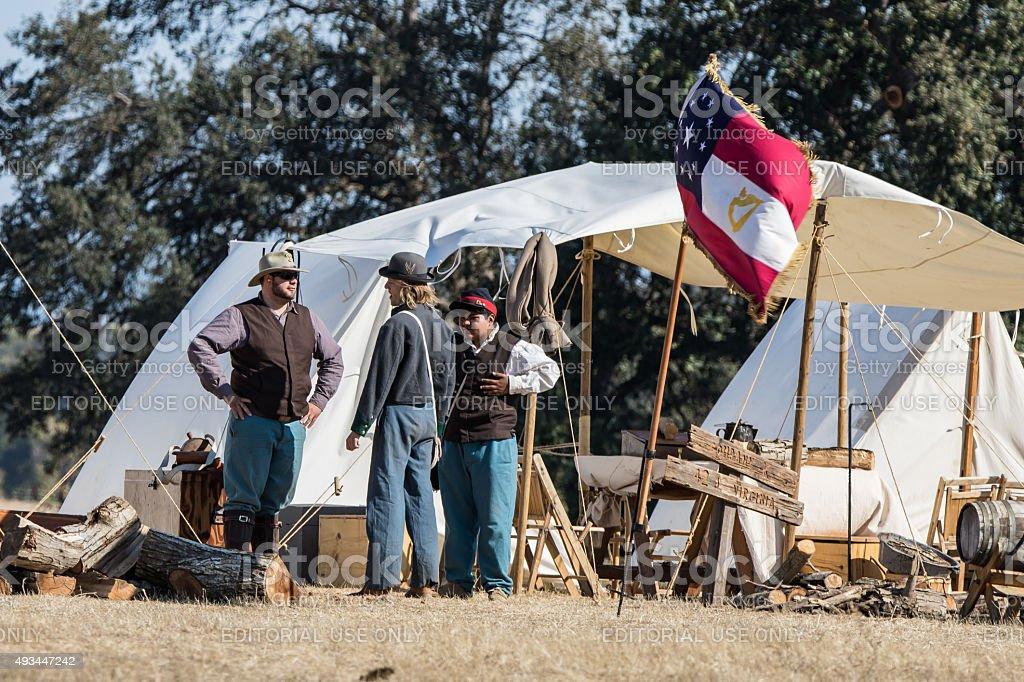 Civil War Camp stock photo