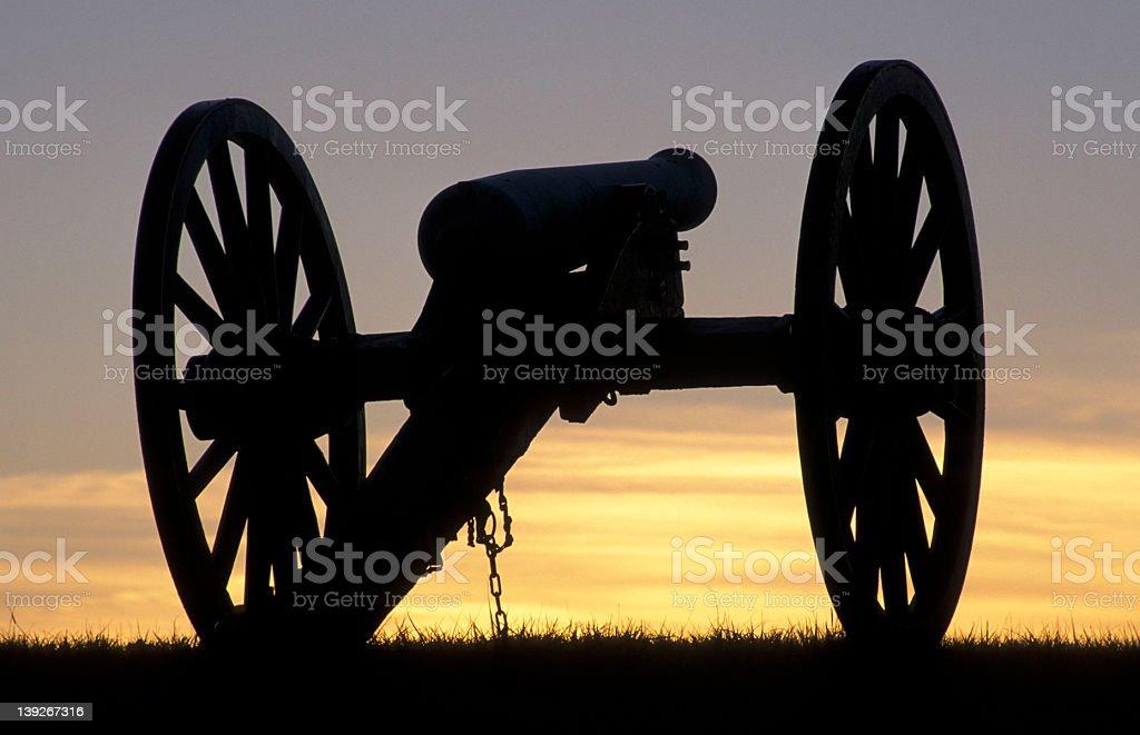 Civil War cannon royalty-free stock photo