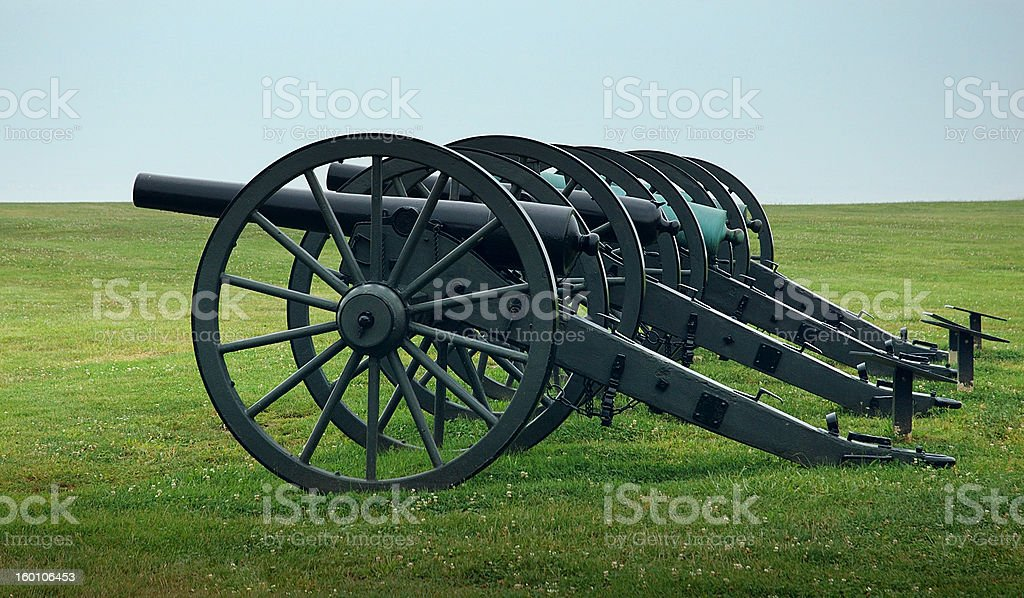 Civil War Cannons royalty-free stock photo