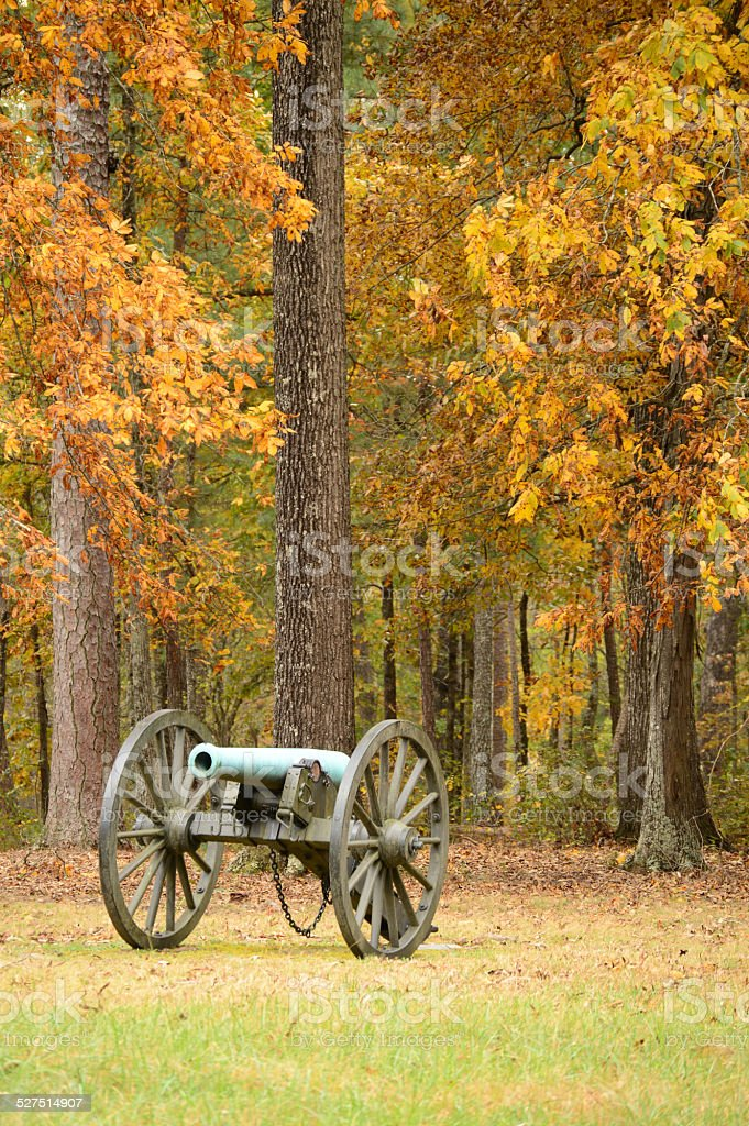 Civil War Canon stock photo