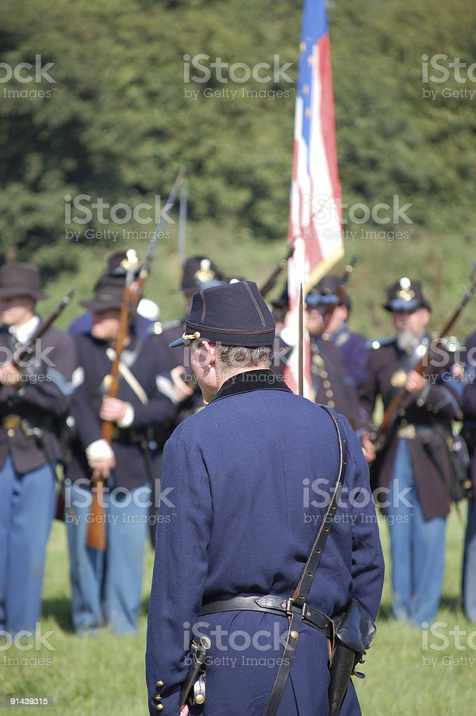 Civil War Commander. stock photo