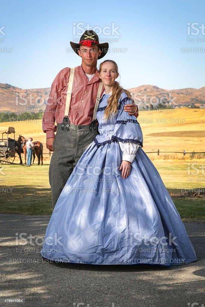 Civil War Couple stock photo