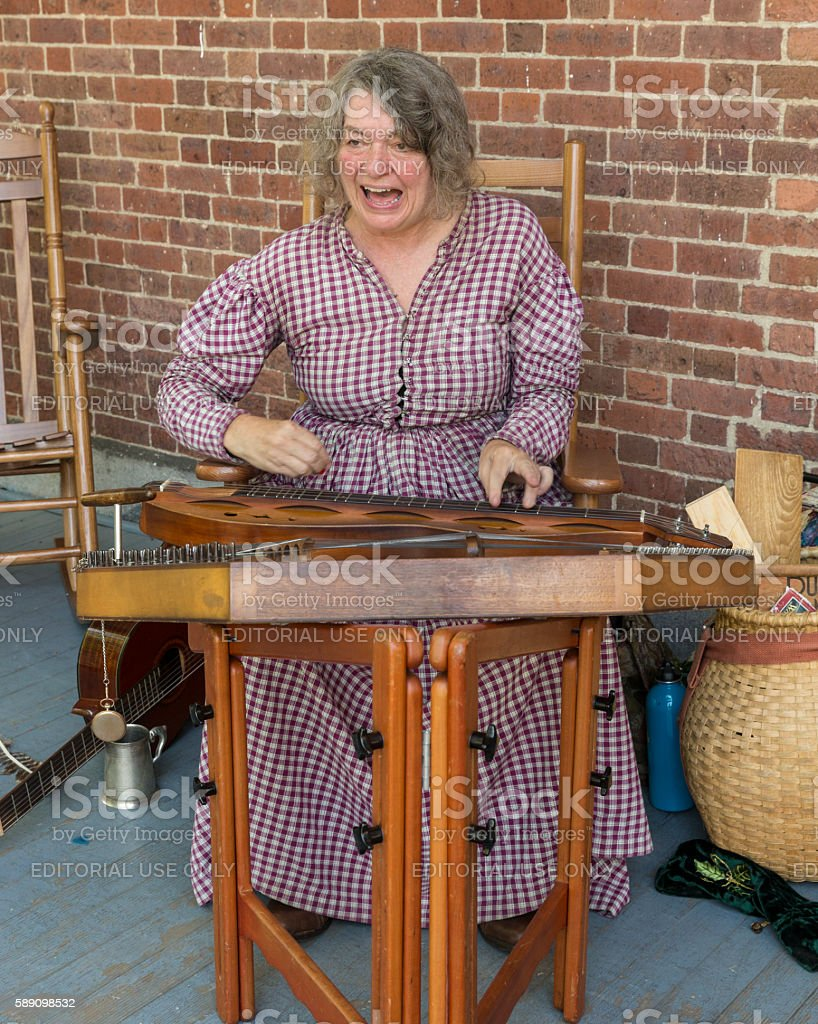 Civil War enactment stock photo