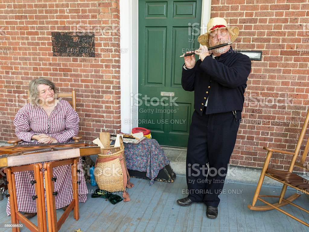 Civil War enactment stock photo