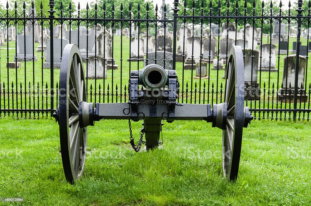 Civil war era cannon stock photo