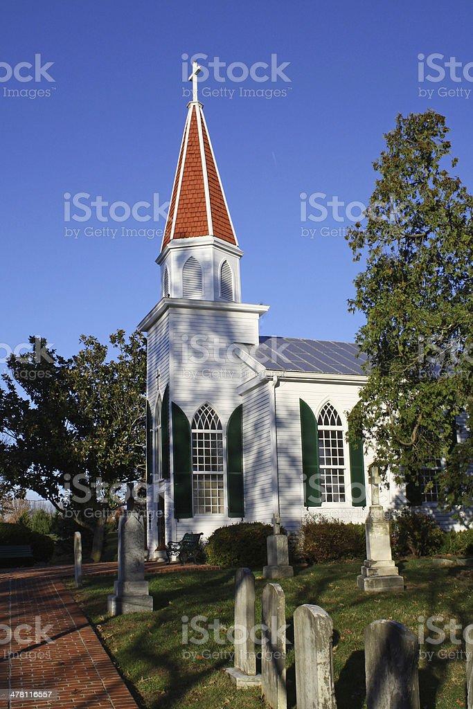Civil War Era Church stock photo