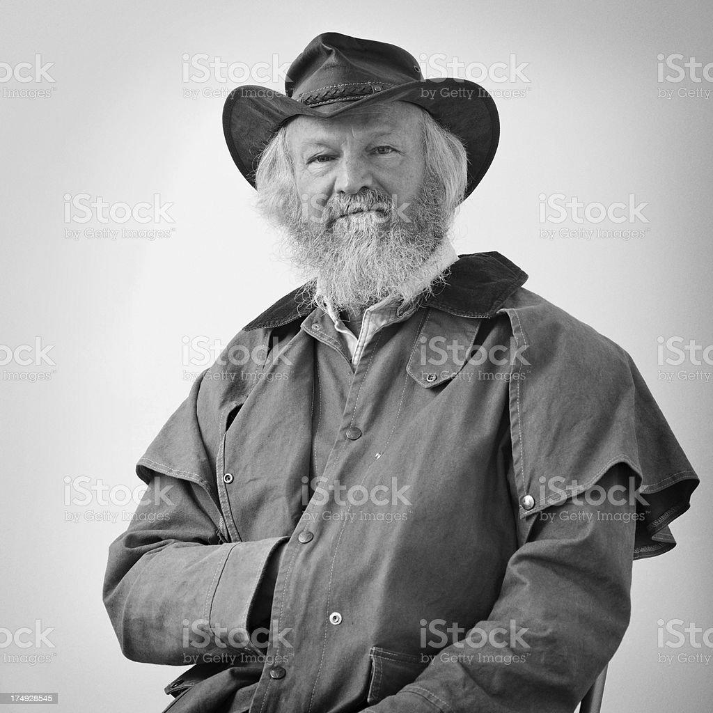 Civil war era - type portrait of sitting man stock photo