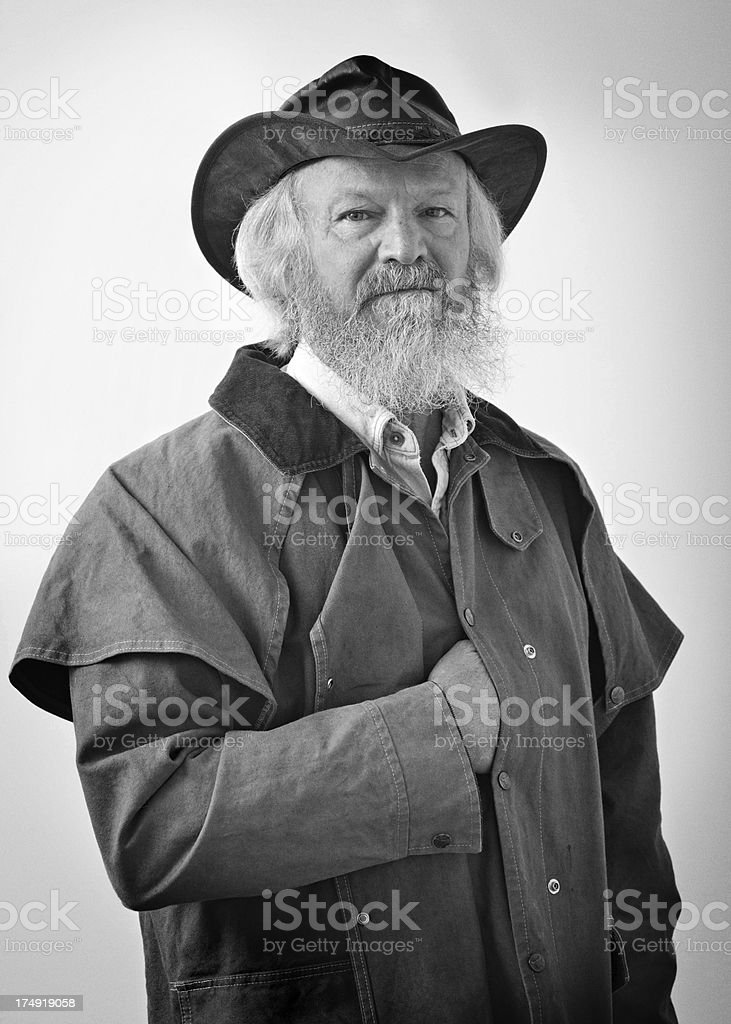Civil war era-type portrait of man with hand in coat royalty-free stock photo