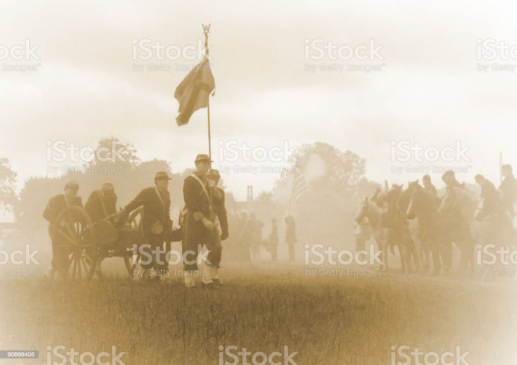 Civil War Ghosts stock photo