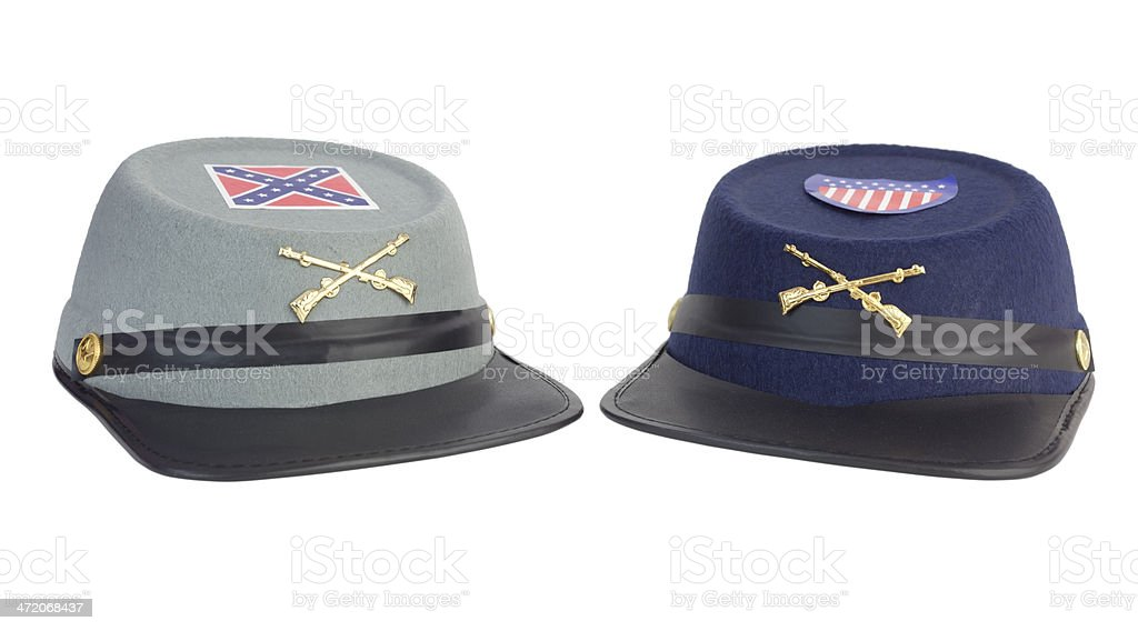 Civil War Hats stock photo