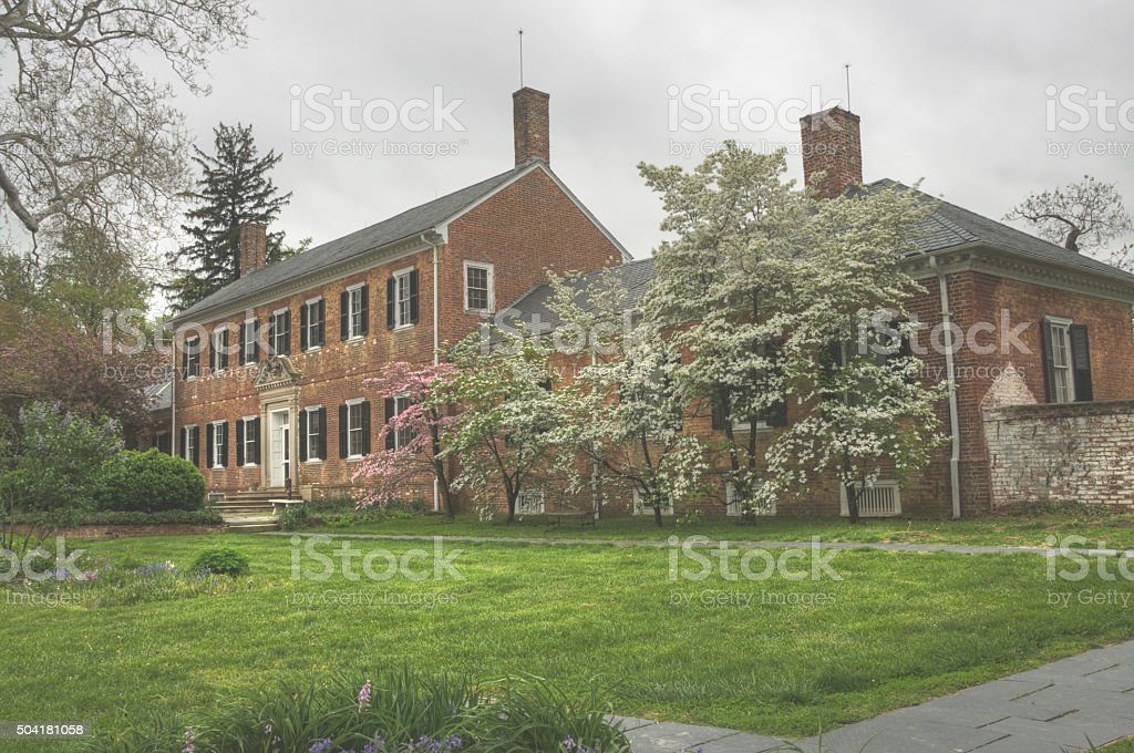 Civil War headquarters and hospital in Virginia stock photo