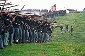 US Civil War Infantry Line of Battle Shenandoah Valley Virginia