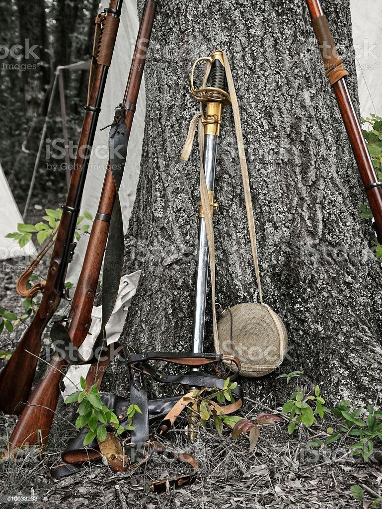 Civil war items stock photo