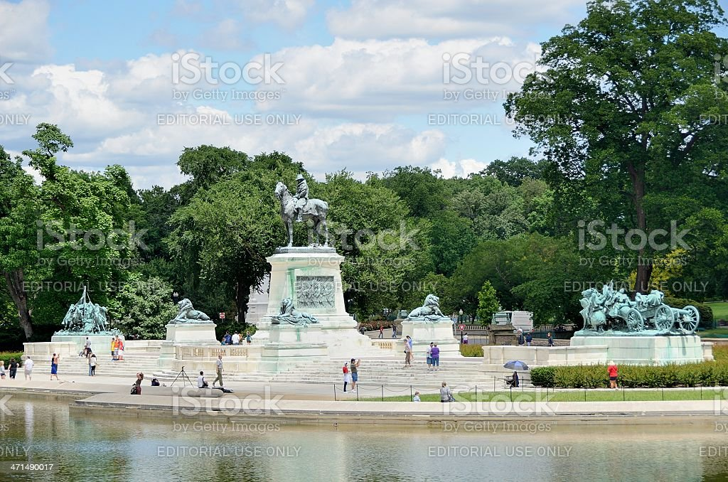 Civil War Memorial, Washington DC stock photo
