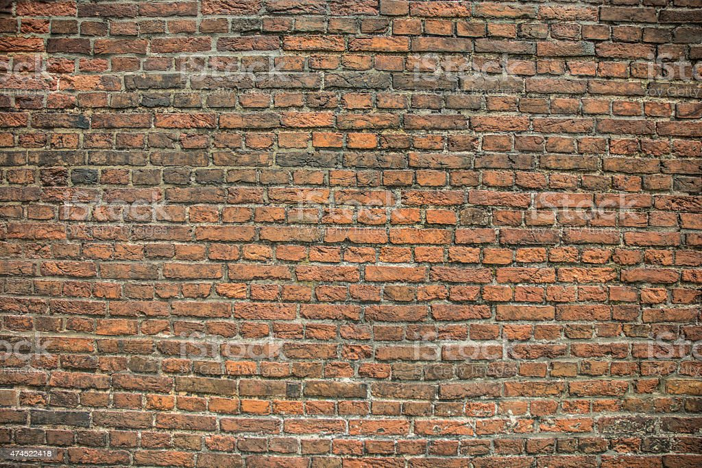 Civil War Old Fort McHenry Orange Brick Wall stock photo