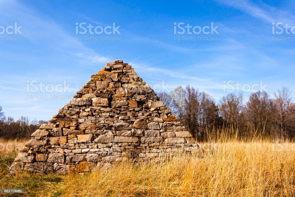 Civil War Pyramid Fredericksburg, VA stock photo