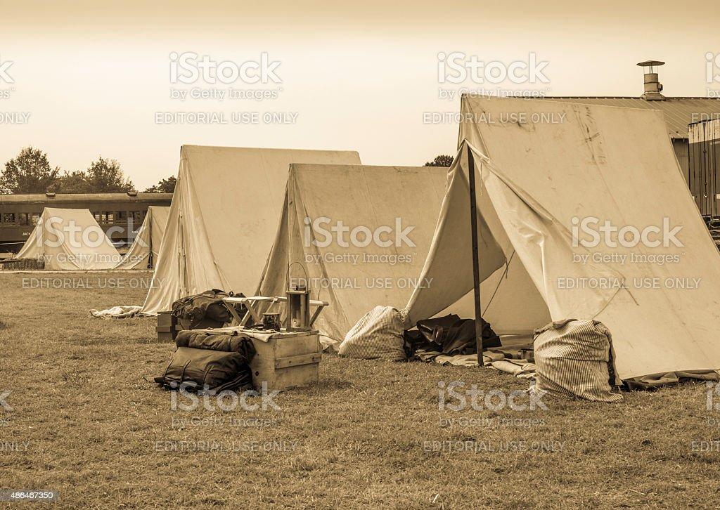 Civil War Reenactment Camp (Photo 4) stock photo