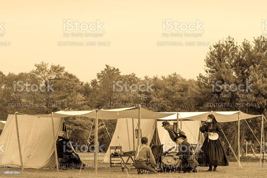 Civil War Reenactment Camp (Photo 6) stock photo