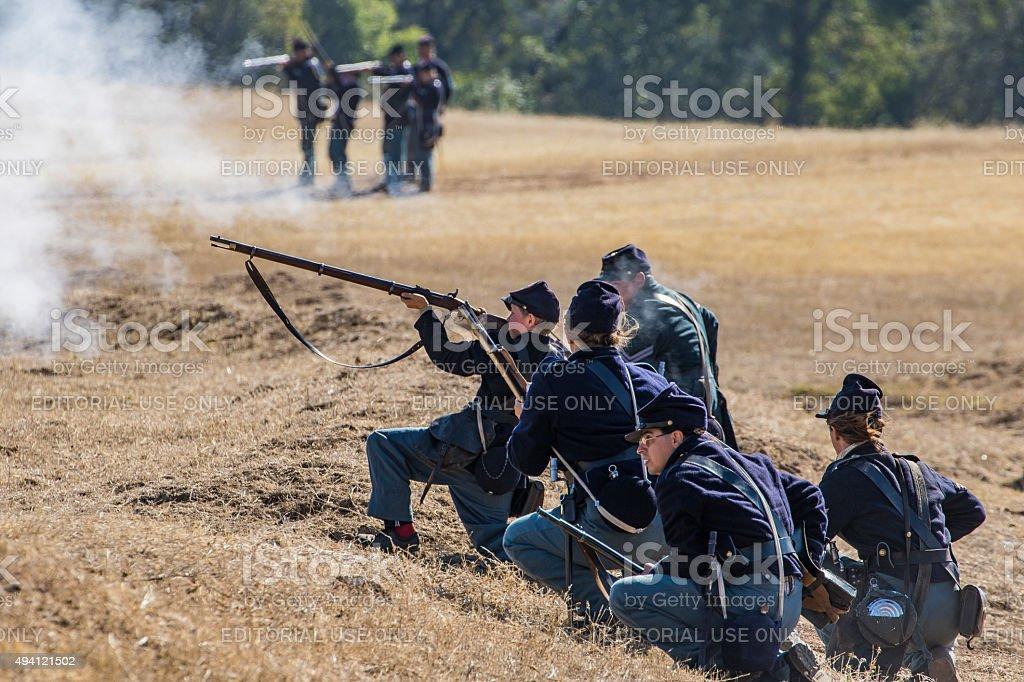 Civil War Reenactment stock photo