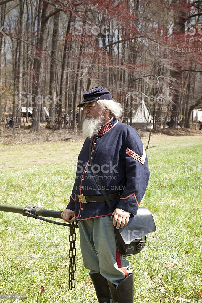Civil War Reenactor royalty-free stock photo