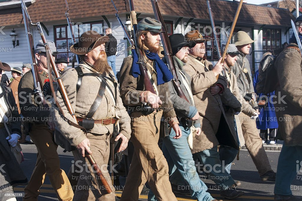 Civil War Reenactors royalty-free stock photo