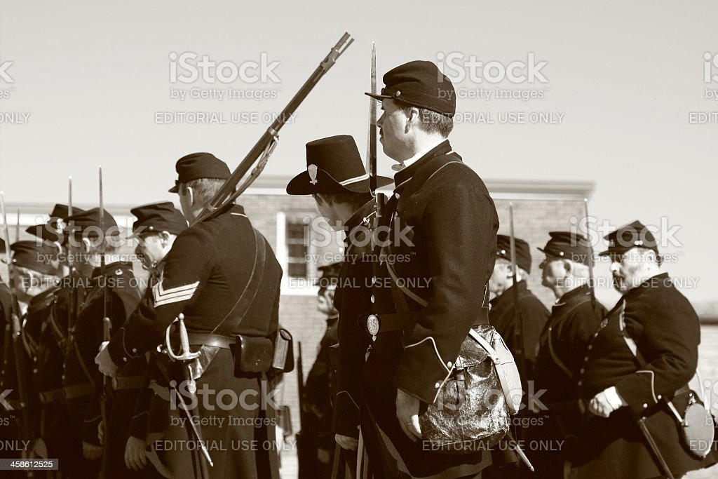 Civil War Reenactors stock photo