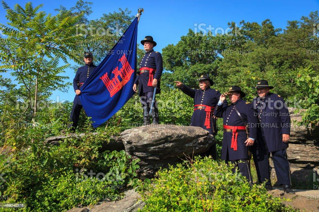 Civil War Reenactors stock photo