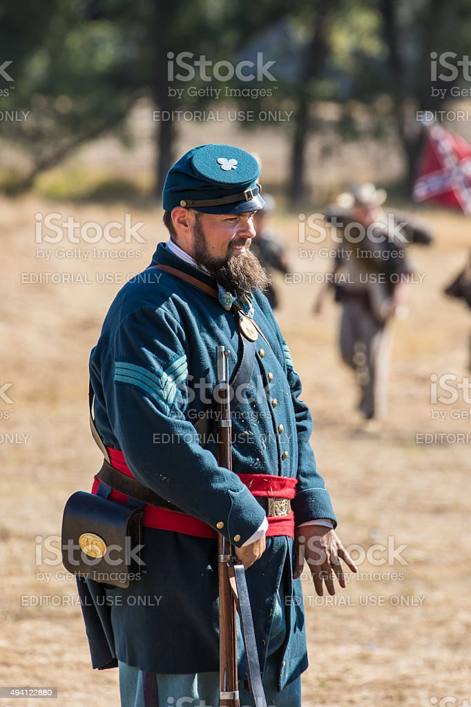 Civil War Soldier stock photo