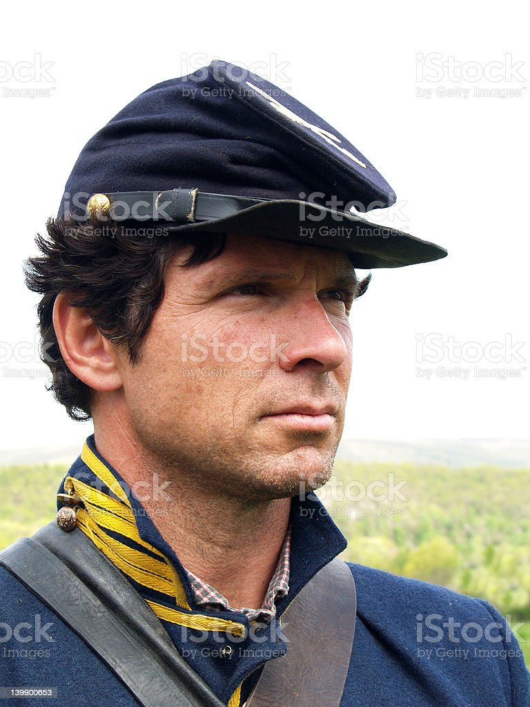Civil War Soldier Portrait stock photo