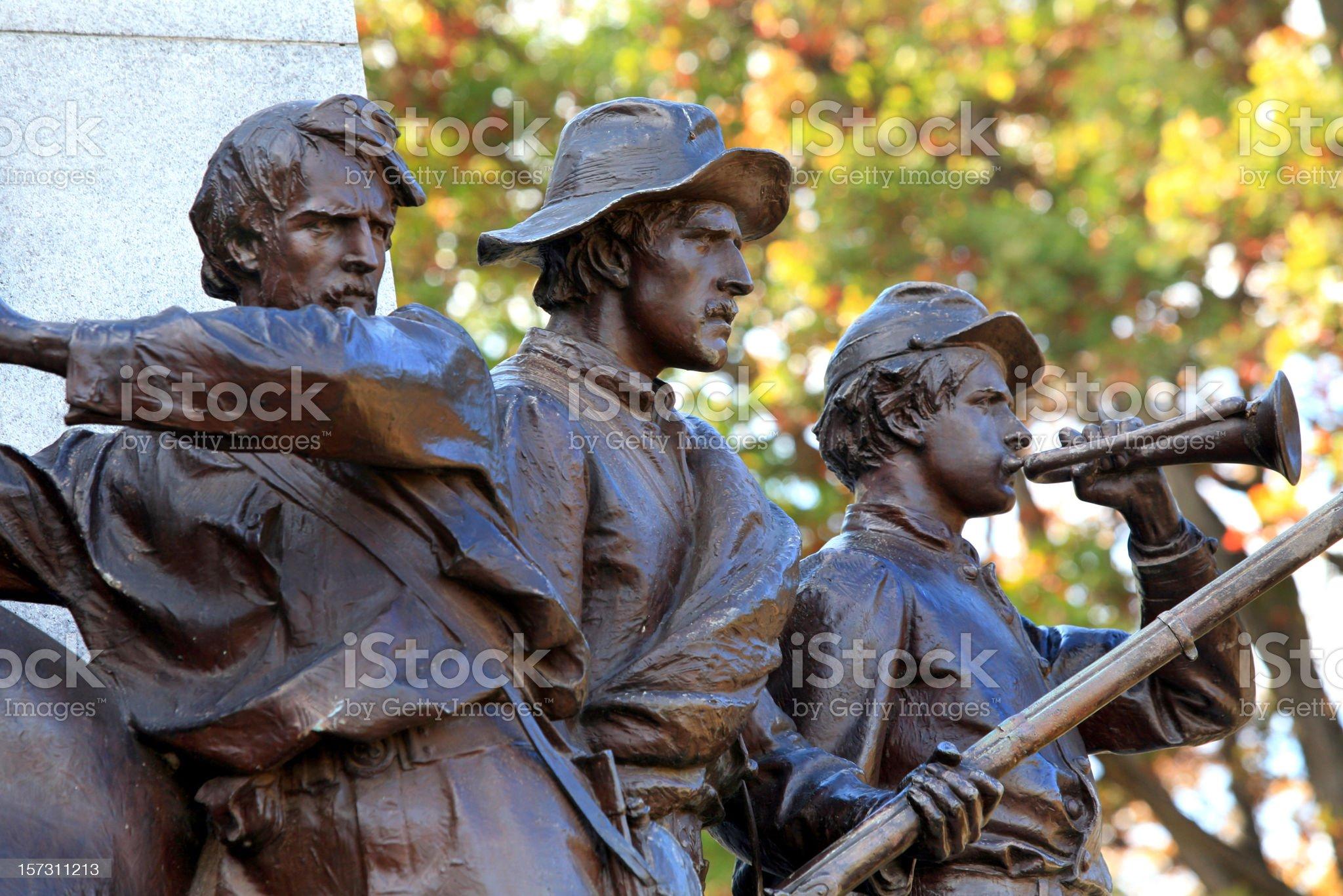 Civil War Soldier Statue Gettysburg royalty-free stock photo