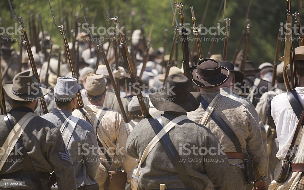Civil war soldiers stock photo