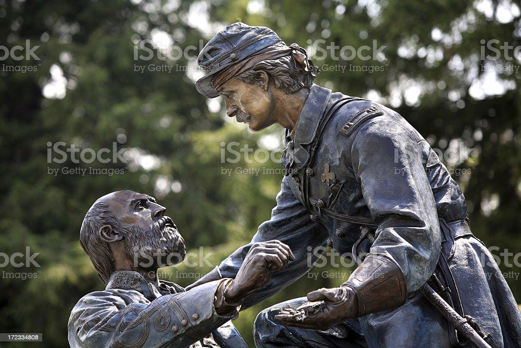 Civil War Statue Monument Memorial Gettysburg Battlefield Park stock photo