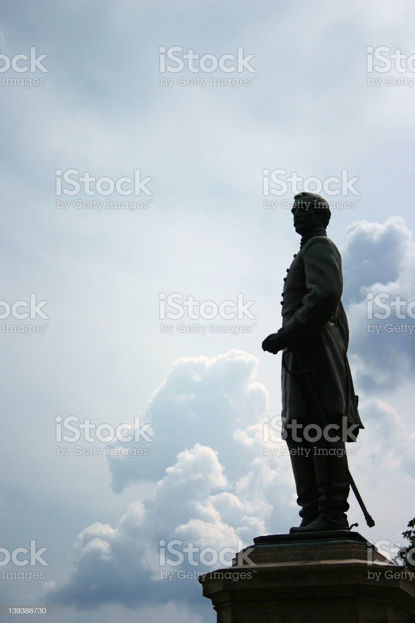 Civil War statue royalty-free stock photo