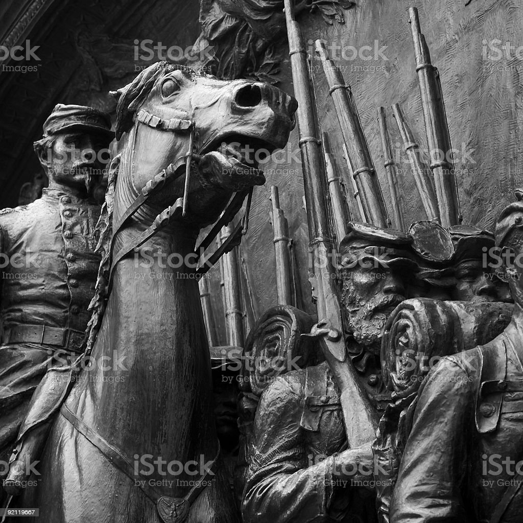 civil war statue stock photo